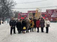 Фото с зимнего праздника Московское долголетие в Сокольниках